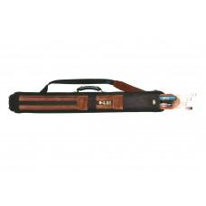 Billiard Cue Hard Case Mozart Superior , cord,light brown, 2/4, 85cm